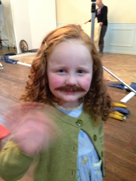 moustache redhead